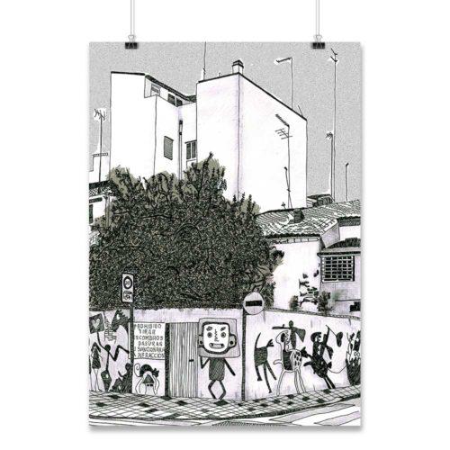 Lámina esquina Mariano Cuber Cabanyal