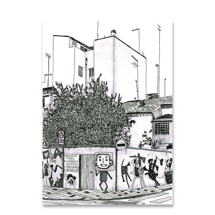 Edificio barrio del Cabañal de Valencia Lámina